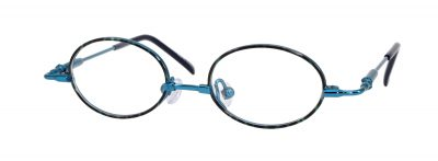 Erin's World frame style number EW-06 in blue demi